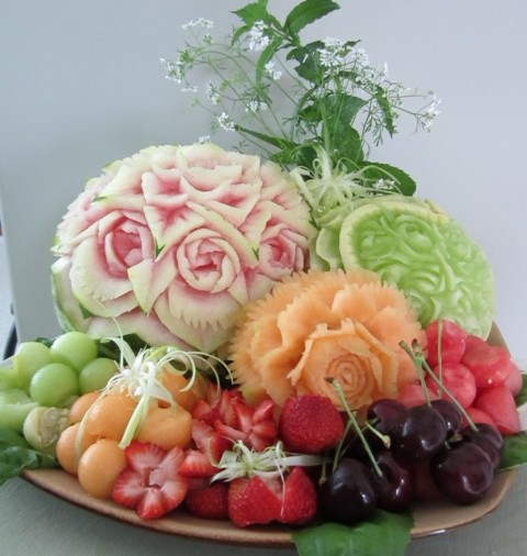 Melon And Fruit Carving Thai Creations