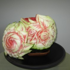 rose basket carving