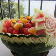 carved watermelon basket