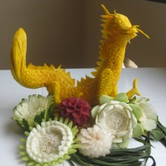 dragon fruit carving