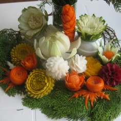 vegetable flower carvings