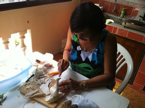 Taro Carving In Progress