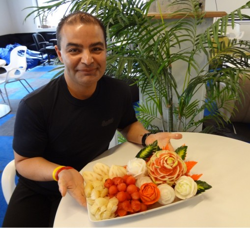 Beginners Class Carved Fruit and Vegetable Platter