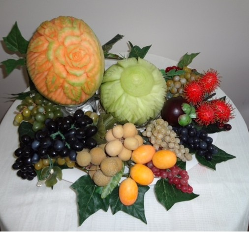 Fancy Carved Fruit Platter