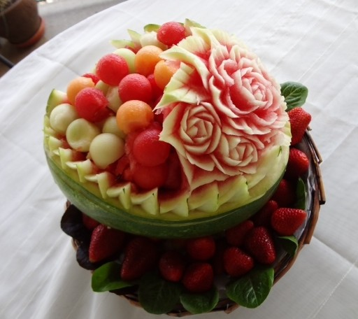 Mother s day fruit carving thai creations