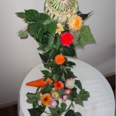 Floral Centerpiece Carving