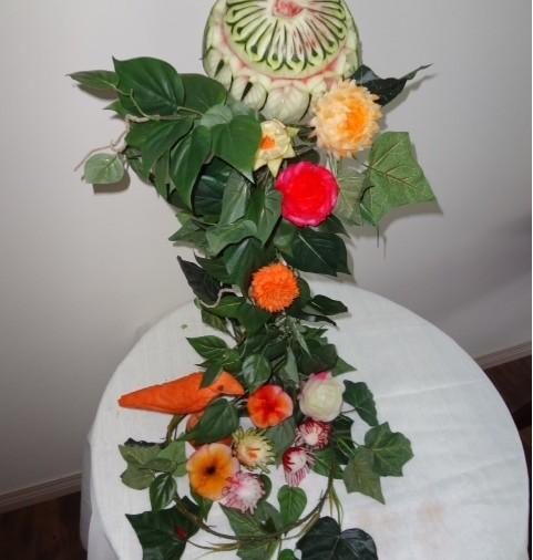Floral Centerpiece Carving