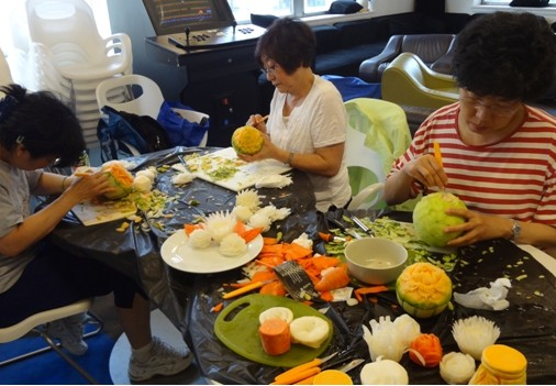 Student's Carving Fruit and Vegetables