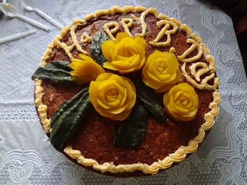 Pumpkin Carving Birthday Cake