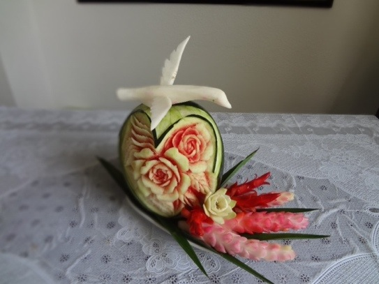 Valentine's Day Heart Watermelon Carving
