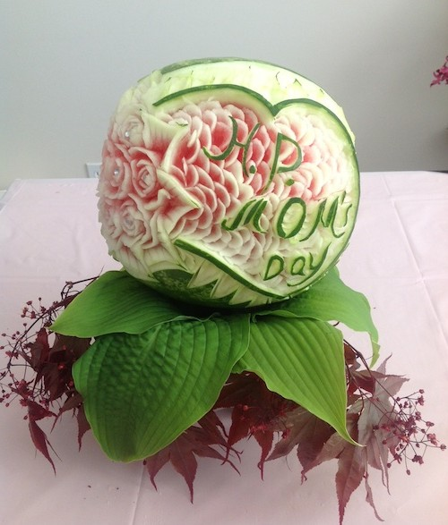Happy mother s day watermelon carving thai creations
