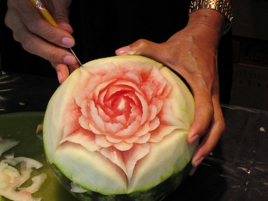Watermelon Carving Demo by Sam