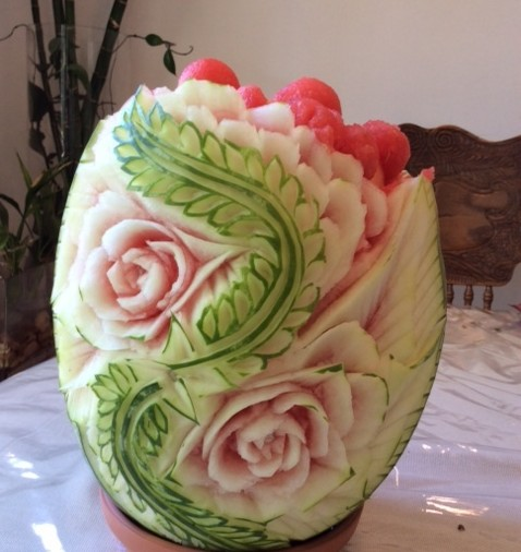 Watermelon Carving Summer Picnic Basket