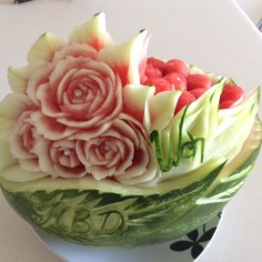Wen Birthday Watermelon Basket Carving