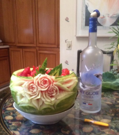 Grey Goose Vodka Watermelon Carving